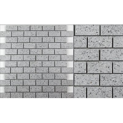Essen 1 x 2 Quartz Subway Tile in Pacific