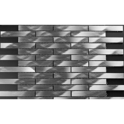 Fascia 0.62 x 3.87 Stainless Steel Mosaic Tile in Stainless Steel