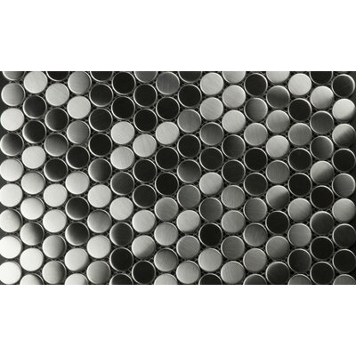Galla 0.75 x 0.75 Mosaic Tile in Gray/Black
