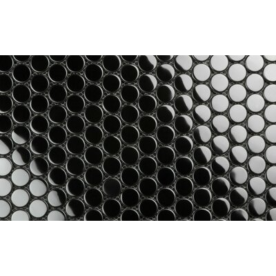 Galla 0.75 x 0.75 Stainless Steel Mosaic Tile in Grand Piano