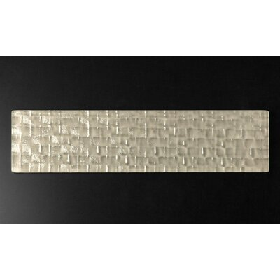 Riz 3 x 12 Glass Tile in Cubica Gray