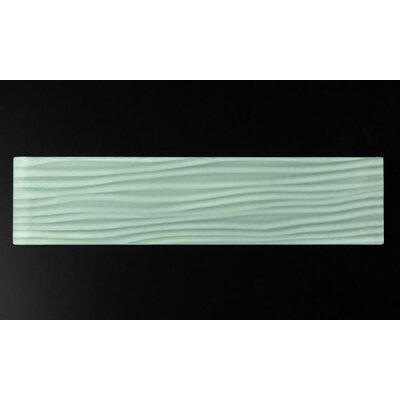 Riz 3 x 12 Glass Tile in Delicate Mint