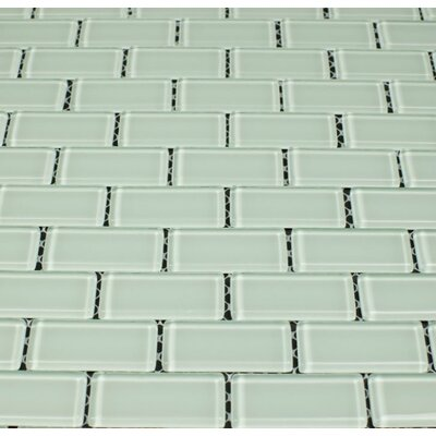 Essen 1 x 2 Glass Subway Tile in Delicate Mint