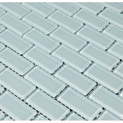 Essen 1 x 2 Glass Subway Tile in Riviera Water