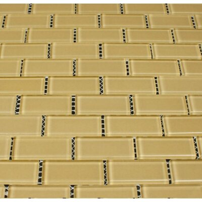Essen 1 x 2 Glass Subway Tile in Olive Martian