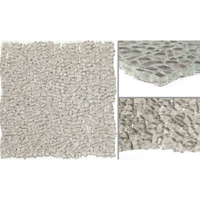 Calca Glass Mosaic Tile in Warm Gray