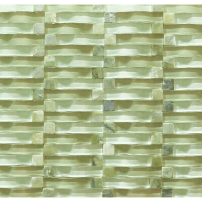 Vento Random Sized Glass and Marble Mosaic Tile in Summer Sigh