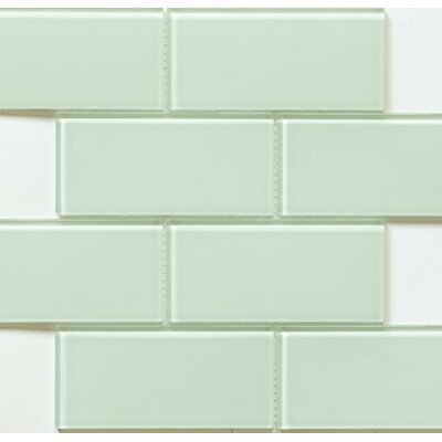 Blocco 3 x 6 Glass Subway Tile in Delicate Mint