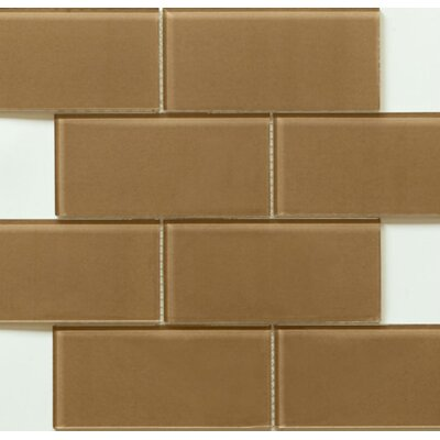 Blocco 3 x 6 Glass Field Tile in Coffee Bean