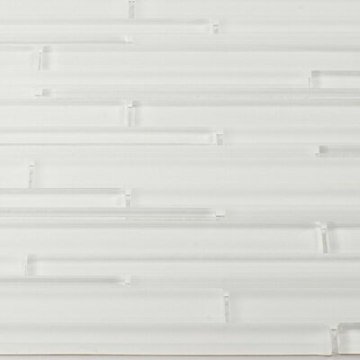 Strada Random Sized Glass Mosaic Tile in White