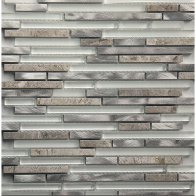 Riga Random Sized Metal/Glass/Stone Mosaic Tile in Dazzle Stone
