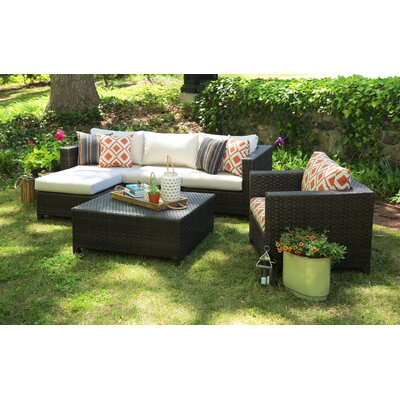 Biscayne 5 Piece Deep Seating Group with Cushion
