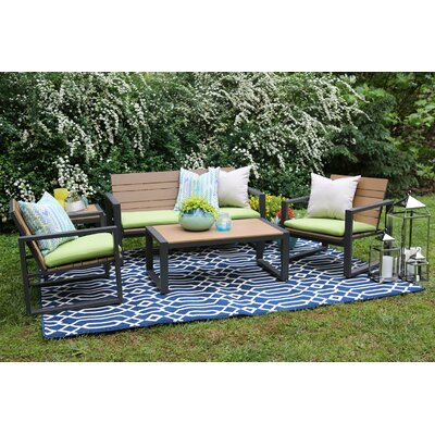 Connelly 5 Piece Sunbrella Sofa Set With Cushions