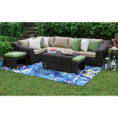 Williams 8 Piece Sunbrella Sectional Set With Cushions