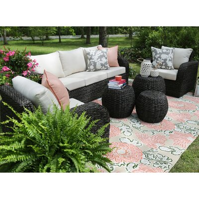 Sanford 6 Piece Sunbrella Sofa Set With Cushions