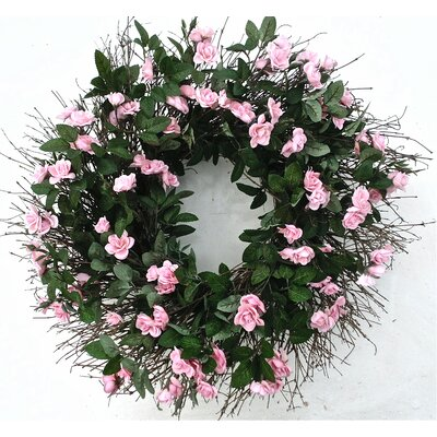 22 Pink Rose Wreath