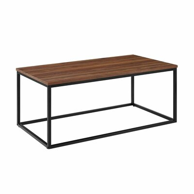 Arianna Coffee Table Table Top Color : Dark Walnut
