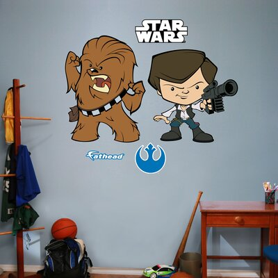 RealBig Star Wars, Han Solo and Chewbacca Pop Duo Wall Decal 92-92165