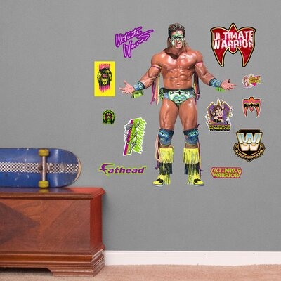 WWE Ultimate Warrior Peel and Stick Wall Decal 15-17078