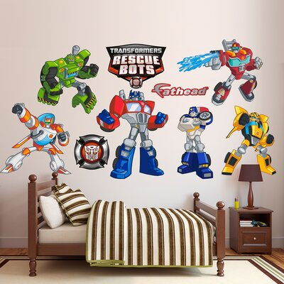 Hasbro Transformers Rescue Bots Peel and Stick Wall Decal 1030-00028