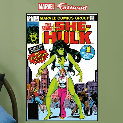 Marvel She-Hulk Cover Junior Peel and Stick Wall Mural 15-16978