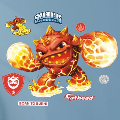 Skylanders Activision - Eruptor Junior Peel and Stick Wall Decal 15-16935