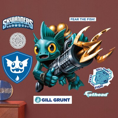 Skylanders Activision - Gill Grunt Junior Peel and Stick Wall Decal 15-16934