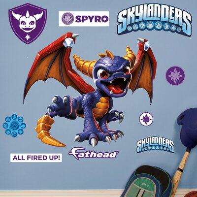 Skylanders Activision - Spyro Junior Peel and Stick Wall Decal 15-16931