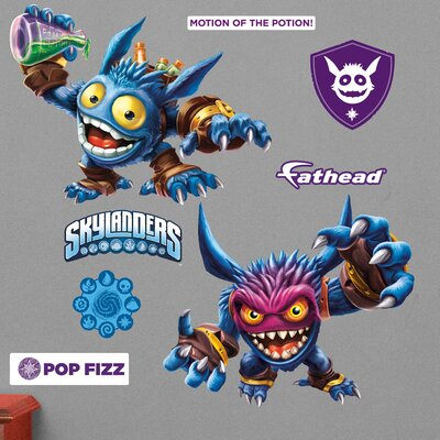 Skylanders Activision - Pop Fizz Junior Peel and Stick Wall Decal 15-16930