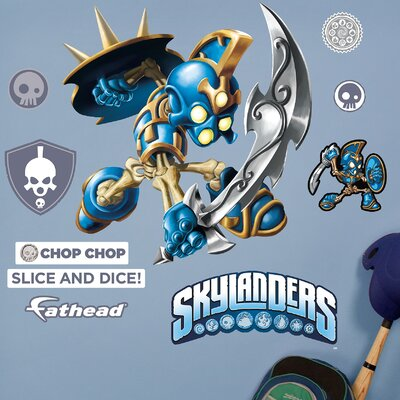 Skylanders Activision - Chop Chop Junior Peel and Stick Wall Decal 15-16939