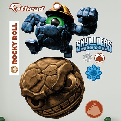 Skylanders Activision - Rocky Roll Peel and Stick Wall Decal 1082-00020