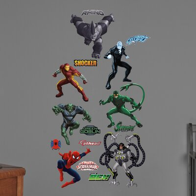 Marvel Ultimate Spider-Man Villains Big Wall Decal 96-96107