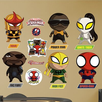 Marvel Ultimate Spider-Man Mini Team Big Wall Decal 96-96120