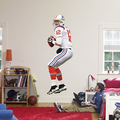 NFL Wall Decal NFL Player: Tom Brady AFL Jersey 12-20313