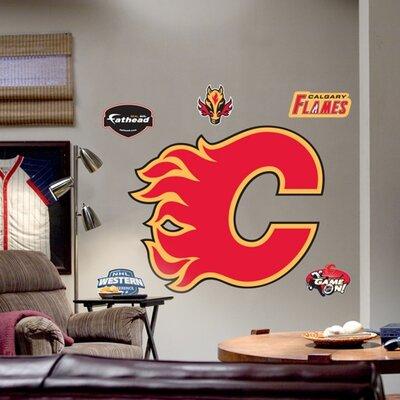 NHL Logo Wall Decal NHL Team: Calgary Flames