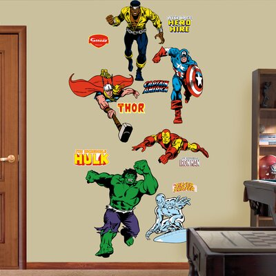 Super Heroes Classic Heroes Wall Decal 96-96014