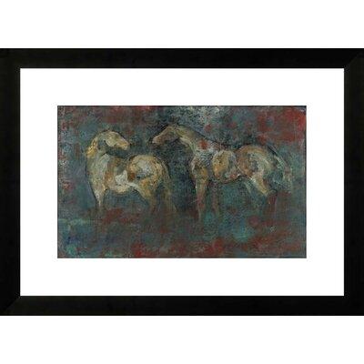 Paddock II by Maeve Harris Framed Paper Print Art Size: 18