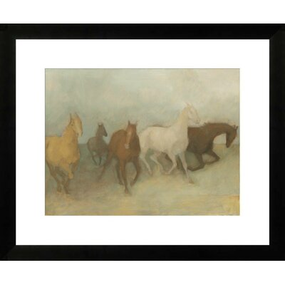 Wild Horses by Kim Coulter Framed Paper Print Art Size: 24