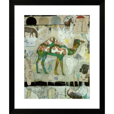 "Camel Pattern by Judy Paul Framed Graphic Art Size: 31"" H x 26"" W NE52860"
