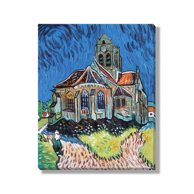 Classics 'The Church at Auvers' by Vincent Van Gogh Painting Print on Wrapped Canvas NE66210