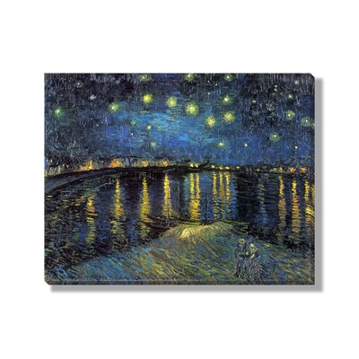 Classics 'Starry Night Over the Rhone' by Vincent Van Gogh Painting Print on Wrapped Canvas NE66192