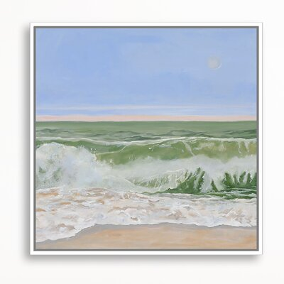 Transparent Wave by Casey Chalem Anderson Framed Painting Print on Canvas Size: 38
