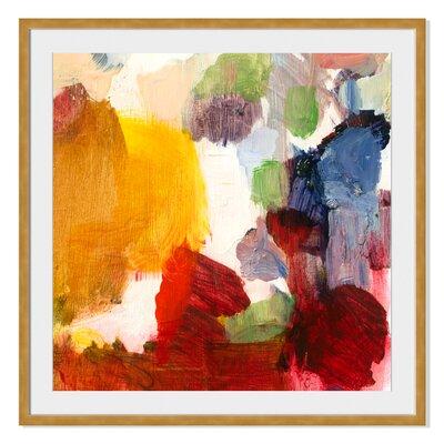 Kaleidoscopic II by Sylvia Angeli Framed Painting Print Size: 36