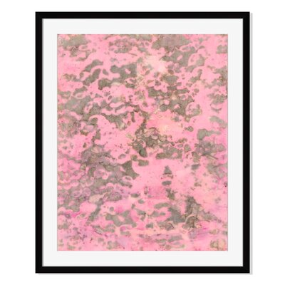 Travertine by Leslie Saris Framed Painting Print in Pink Size: 16
