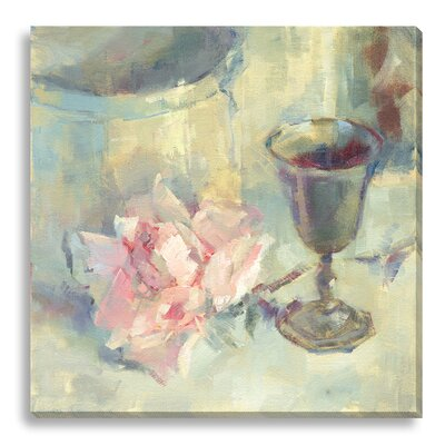 'A Cup of Good Cheer' by Suzanne Stewart Painting Print on Wrapped Canvas SS100A_CG_16x16