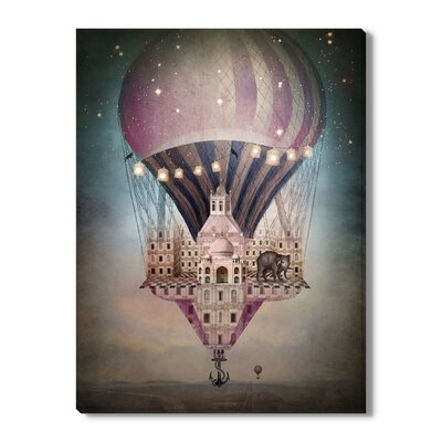 Surreal 'A Long Way Home' by Catrin Welz-Stein Graphic Art on Wrapped Canvas Size: 24