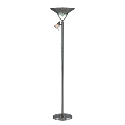 Lite Source Kaiser II Torchiere Reading Floor Lamp in Polished Steel at Sears.com