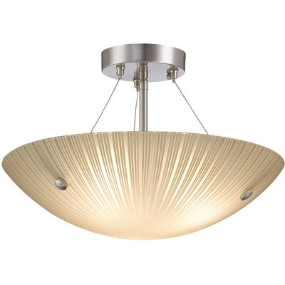 Mccumber 3-Light Semi-Flush Mount