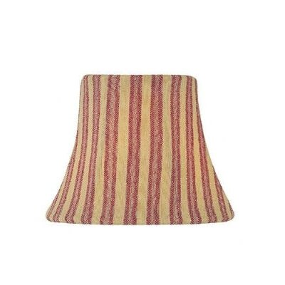 Candelabra Lamp Shade in Woven Stripe Red