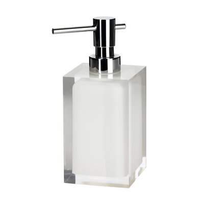 Milford Soap Dispenser in Clear and White